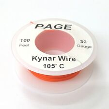 100' Page 30AWG ORANGE KYNAR Insulated Wire Wrap Wire 100 Foot Roll  Made In USA