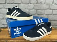 ADIDAS NAVY BLUE WHITE SUEDE GAZELLE OG TRAINERS B24620 CHILDREN, BOYS, LADIES