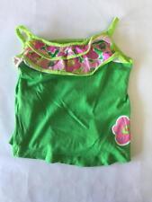 Agatha Ruiz de la Prada Baby Girl Green Ruffle Flower Tank Top Size 12 mo