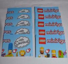 LEGO - THE SIMPSONS SERIES 1 - 10 MINI FIGURE LEAFLETS FREE SHIPPING