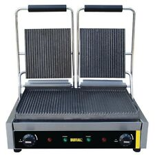 Buffalo DM902 Bistro Contact Grill Double Ribbed 540Wx390Dmm @Next Day Delivery