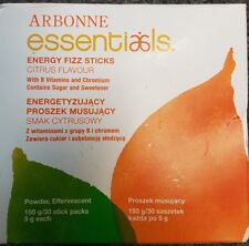 Brand New Arbonne Essentials Citrus Energy Fizz Sticks 30 Stick Pack BB 2020