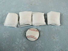 """Set Of 5 Raised Baseball Resins 2"""" Round For Trophy Plaque Inserts Or Crafts.New"""