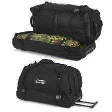 Snugpak Subdivide Roller Wheeled Carry All 90l Bag Travel Holiday Camping Black