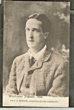 VPH 1908 Postcard, F.R. Benson, Pageant Master, Romsey 1907 & Winchester 1908