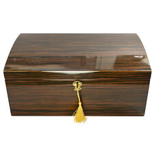 125 Count Cedar Cigar Humidor w High Lacquer Ebony Finish Bourbonst Ii-125