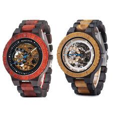 Ryan Jack Mechanical Hunted Watch Automatic Wood Winder Luxury Reloj Wristwatch