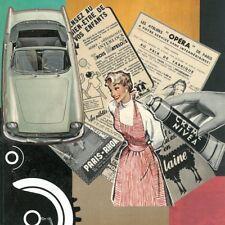 "Collage sur carton 29X29 cm "" OPERA NIVEA "" VINTAGE PIN UP - RENAULT CARAVELLE"