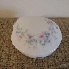 "Wedgwood Bone China England Trinket Box ""Angela"" Beautiful Rare Seashell Shape"