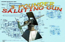 Model Boat 3 Pounder Saluting Gun Scale Printed Drawings and Article w Photos