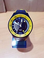 Swacth Diver's Scuba Frogman Watch Navy-Yellow Special Depth Measurement Limited