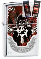 Zippo 4793 Sons of Anarchy Lighter with *FLINT & WICK GIFT SET*
