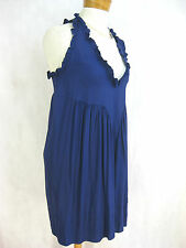 Gorgeous Sz M 12 Common Thread blue silk spandex designer dress