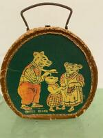 Child Doll Antique EARLY Victorian Toy Suitcase Hatbox Three Bears Nursery Rhyme