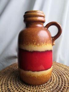 Vintage West German Pottery Fat Lava Era Vase 413 20 Sheurich 60s 70s MCM Retro