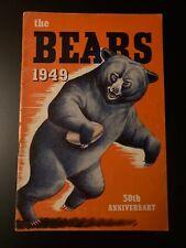 Vintage 1949 Chicago Bears Yearbook / Media Guide