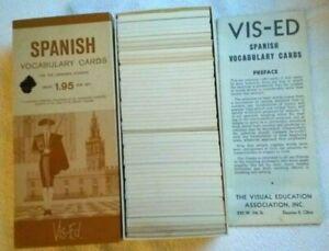 Bilingual Spanish Vocabulary Flash Cards Home School Learning Academic Study
