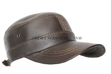 New Design Men Real Leather Brown 2 Holes Cap CASTRO Gatsby Golf Driving Beret
