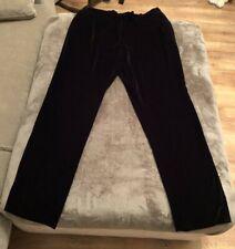 NEXT Premium Tailoring Black Velvet Trousers Size 12 - BNWT