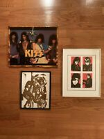 KISS LOT - Animalize Wood Clock & Kiss Photo & Original The Elder Art Photo
