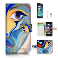 ( For iPhone 7 ) Wallet Case Cover P2638 Abstract Girl