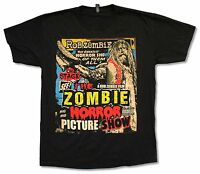 ROB ZOMBIE PICTURE SHOW BLACK T-SHIRT NEW OFFICIAL HORROR MERCH WHITE