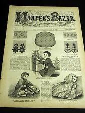 Harper's Bazar June 20, 1868 VICTORIAN PATTERNS Waist Blouses, Boys & Girls