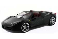 HOT WHEELS ELITE FERRARI 458 ITALIA SPIDER FLAT BLACK1/18 DIECAST CAR X5485