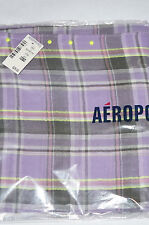 AEROPOSTALE Women's Plaid Handkerchief Scarf OXFORD PINK Purple NWT Retail $29.5