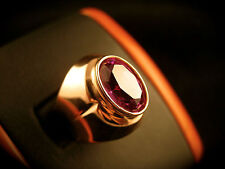 Solitaire ROSE Gold ALEXANDRITE Ring Vintage Soviet Russian Size 6 stamp 583