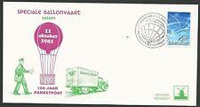 FDC Speciale Ballonvaart Geleen 100 jaar pakketpost