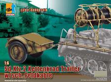 DRAGON 1/6 Sd.Kfz.2 Kettenkrad trailer with/sch. Feldkable 71255