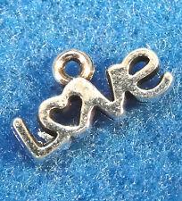 "20Pcs. Tibetan Silver Small ""LOVE"" Charms Pendants Drops Jewelry Findings WS54"