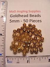 GOLD testa ottone PERLINE -5 mm circa il 50 per volare la vendita abbinata