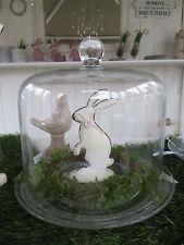Cloche* Glashaube * eckige Form *Glasglocke *Vintage * Landhaus* Shabby* Garden*
