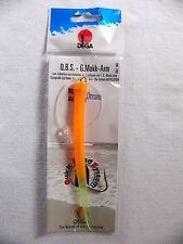 DEGA Makk Arm 0,80mm 6/0 Vorfach Meeresvorfach orange Q.B.S. Mak Beifänger Meer