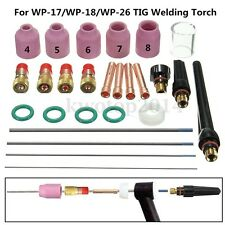 26x Tig Welding Torch Nozzle Cup Tungsten Gas Lens WL20 Kit For TIG WP-17/18/26
