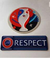 EURO 2016 UEFA EM 2016 FRANCE + RESPECT BADGE PATCH New