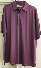 Donald Ross Short Sleeve Golf Polo Shirt Maroon Checked Pattern Men's Size XL