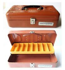 Metal Tackle Box Vintage Old Pal Woodstream Clean Inside Usa Cinnamon Copper