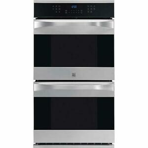 "Kenmore Elite 27"" Stainless Steel Double Convection Wall Oven  48443"
