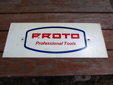"Vintage Proto Tools Store Display Sign Advertisement Board Rare 24"" X 9 1/2"""
