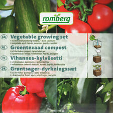 Growing Set with Labels, Soil & Seeds: Tomato, Cucumber, Paprica, Courgette SALE