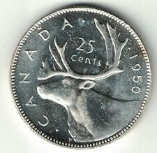 CANADA 1950 25 CENTS QUARTER KING GEORGE VI CANADIAN SILVER COIN HIGH GRADE