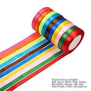 Wholesale 25 Yard Roll of 6mm/10mm Satin Ribbon (23 Metres) Scrapbook Fabric UK