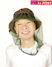 Mosquito Fly Head Net Headnet | Camping Hiking Gardening Fruit Farm Job