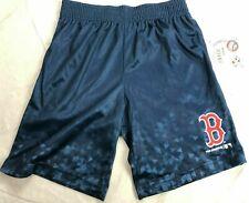 MLB Boston Red Sox Boys' Athletic Shorts - Blue Geometric - NWT