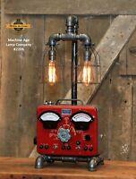 Steampunk Industrial Machine Age Lamp Sun Automotive Volt Meter Light Automobile