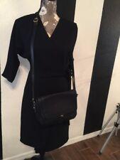 Bally Black Woven Leather Crossbody Bag Sz Medium