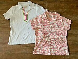 M EP Pro Tour Dry 2 womens golf shirt short sleeve medium lot palm tree Audubon